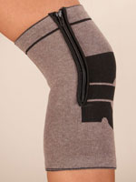 Supports & Braces - Magnetic Bamboo Knee Brace with Zipper