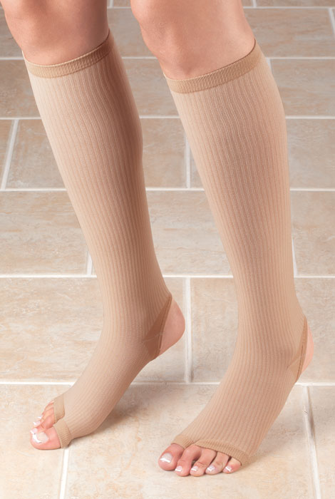Stirrup Compression Stocking with Gel, 15-20 mmHg