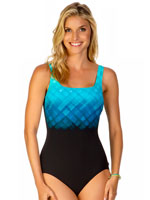 Reebok® - Reebok® Underwater Plaid Tank Suit