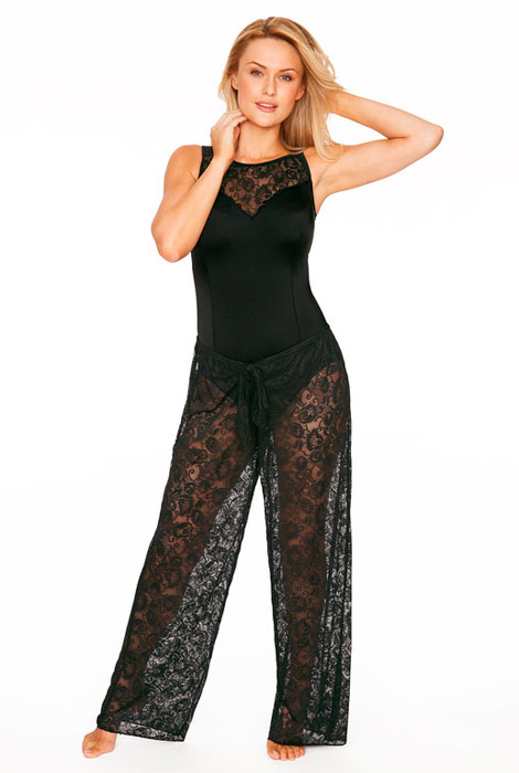 Longitude® Sheer Love Lace Pant Cover Up