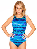 Swim Sale - Longitude® Ocean Tides High Neck Tank Suit