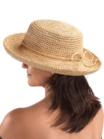 Hats, Scarves & Gloves - Raffia Roll-Up Hat