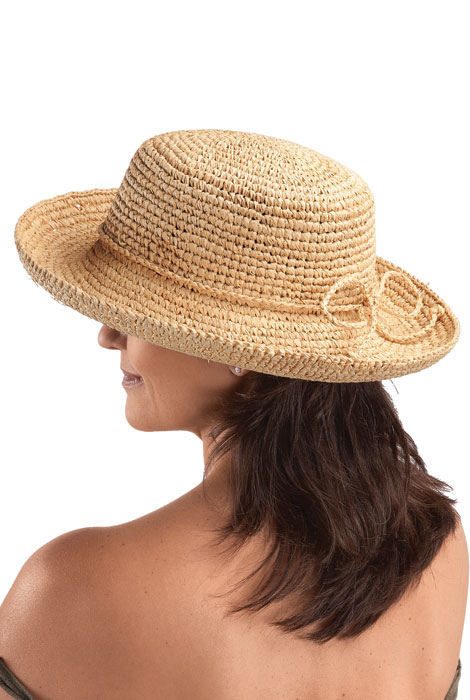 Raffia Roll-Up Hat