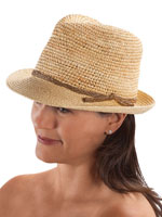 Hats, Scarves & Gloves - Raffia Fedora