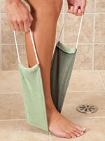 Hand, Foot & Body Care - Bamboo Charcoal Washcloth with Handles