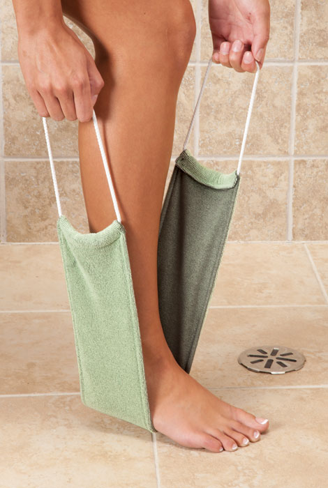 Bamboo Charcoal Washcloth with Handles
