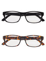 Eyewear - Rectangular Readers with Spring Hinge, Set of 2