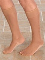 Hosiery - Dry Feet Cotton Sole Knee Highs, 3 Pair