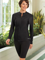 Athletic Swimwear - Speedo® Zip Front Rashguard