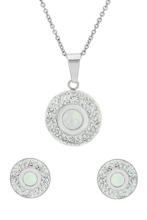 Mother of Pearl Earring and Necklace Set