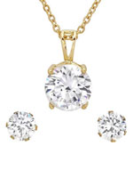 Jewelry - CZ Earring and Necklace Set