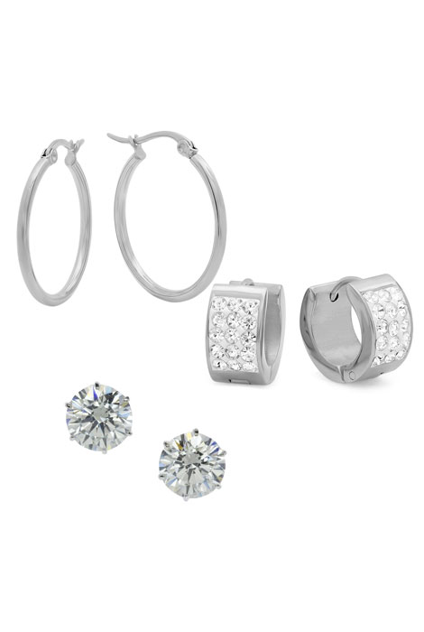 Set of 3 CZ Earrings - View 1