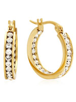 Jewelry - Swarovski Elements Hoop Earrings