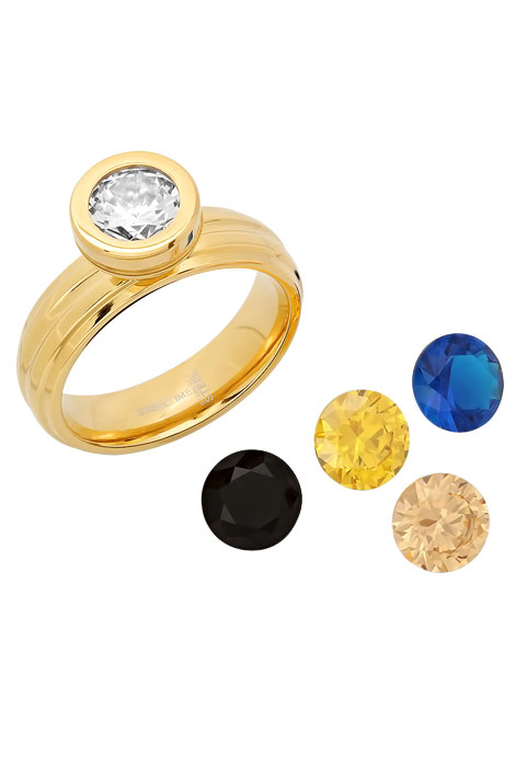 Interchangeable CZ Ring