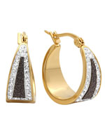 Jewelry - Black Diamond Dust Hoop Earrings