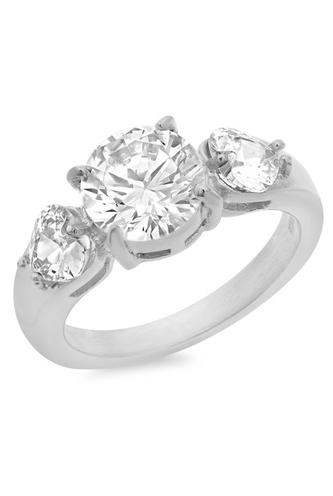 CZ Engagement Ring - View 1