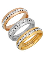 Jewelry - CZ Eternity Band Rings, Set of 3