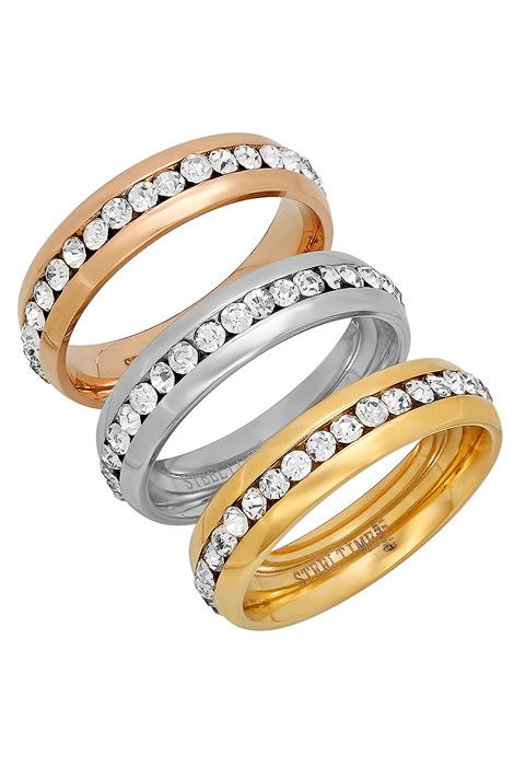CZ Eternity Band Rings, Set of 3 - View 1