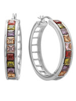 Jewelry - Multi-Colored Hoop Earrings