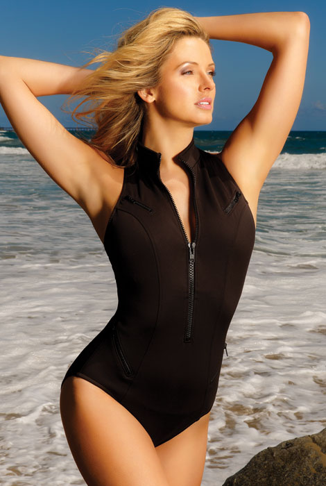 Magicsuit® Cocoa Tank Suit - View 1