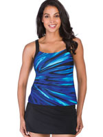 Surf & Sand Swimwear - Coastal Blues Tankini Top
