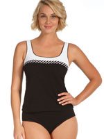 Surf & Sand Swimwear - 100% Chlorine Proof SportSupport™ Tankini Top