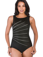 Fitness Swimwear - 100% Chlorine Proof Light Rays High Neck Suit