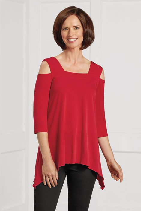 SlimU™ Cold Shoulder Tunic