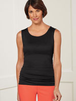Tops - SlimU™ Scooped Neck Ruched Tank