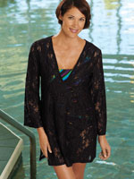 Clothing & Swim - Lace Tunic Beach Cover Up