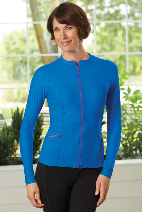 Cabana Life® Solid Zip Front Jacket - View 1