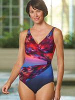 Pop of Color Swimwear - Gottex® Galaxy Surplice Suit