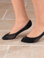 Shoes & Accessories - Lace Trim Cushioned Foot Liners, 1 pr.
