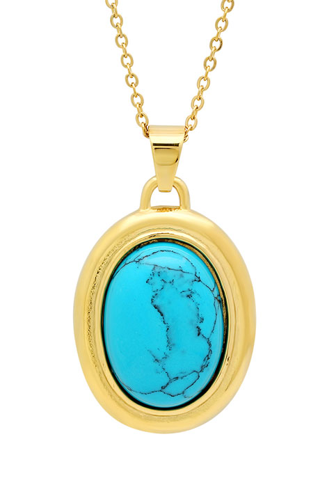 Turquoise Pendant Necklace - View 1