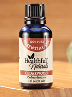 At Home Spa - Healthful™ Naturals Cedarwood Essential Oil, 30 ml