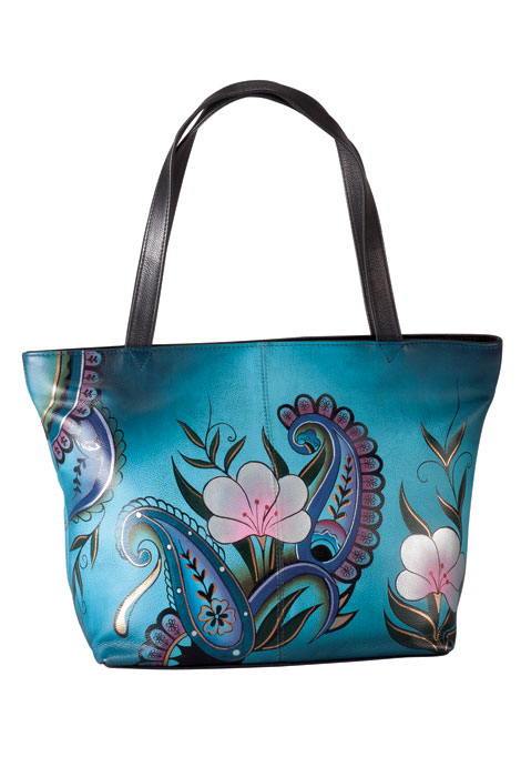 Anna Anuschka™ Handpainted Leather Zip Tote
