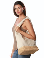 Handbags & Belts - Ipanema Linen & Raffia Tote