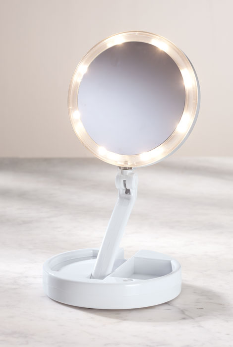 12X/1X Lighted Folding Mirror