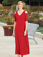 Apparel Promotion - Cold Shoulder V-Neck Maxi Dress