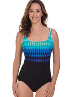 Fitness Swimwear - Reebok™ Trailblazer Stripe Tank Suit