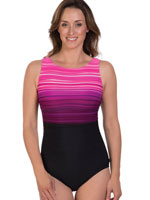 Fitness Swimwear - Reebok™ Desert Rays High Neck One Piece Tank Suit