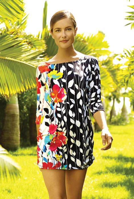 Anne Cole® Engineered Floral Tunic Cover Up