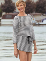 Accessories - Anne Cole® Knit Crochet Boatneck Tunic Cover Up