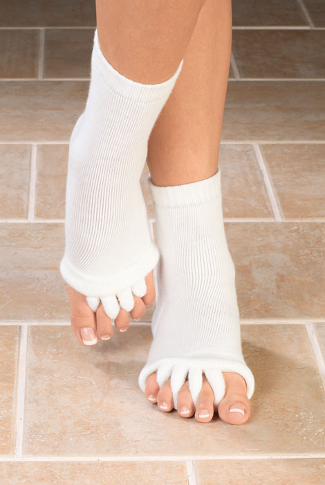 Comfy Toes Gel-Lined Alignment Socks