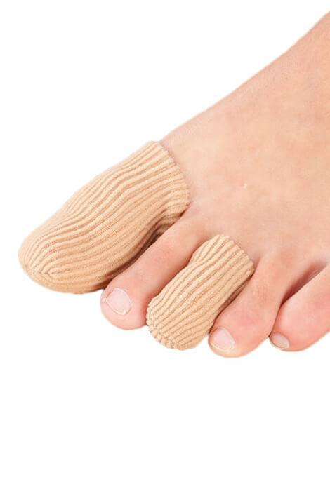 Silver Steps™ Antibacterial Toe or Finger Caps, Set of 4 - View 1