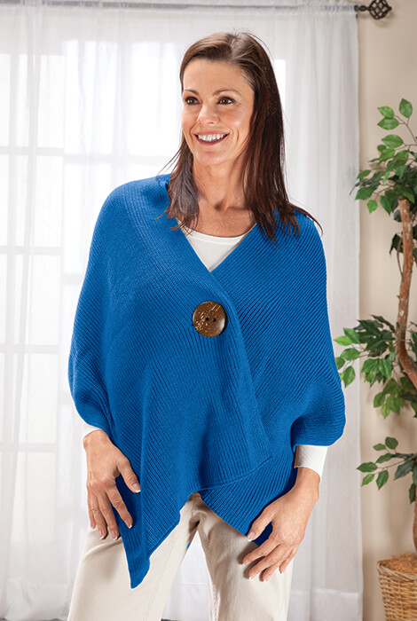 Big Button Shawl By Sawyer Creek Studio™​