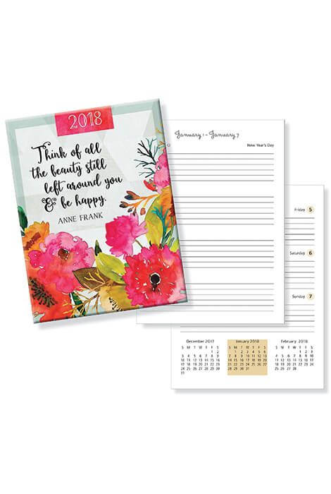 Weekly Agenda Planner - Think of All the Beauty - View 1