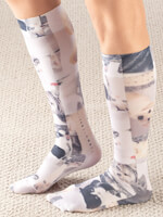 Socks and Hosiery - Celeste Stein Pet Lovers Compression Socks, 15–20 mmHg