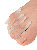 Gel Footcare - Silver Steps™ Gel Toe Separators, Set of 8