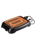 "Weight Management - NonStick Ceramic Copper 13"" Countertop Electric Grill By Home Marketplace"